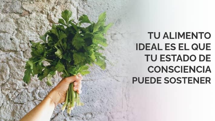 Tu alimento ideal es el que tu estado de consciencia puede sostener